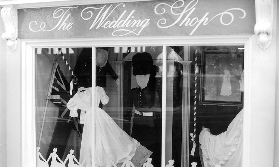 0c41e0bff 1981 – Window display celebrating the marriage of Prince Charles & Lady  Diana.