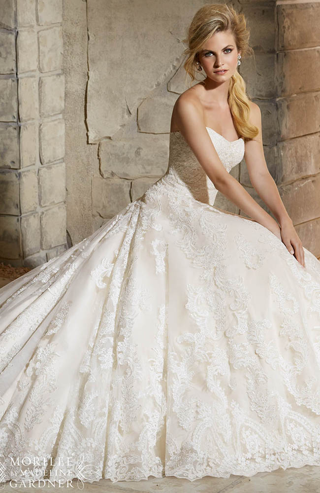 Mori lee 2787 classic romantic wedding dress on sale at 1438 mori lee 2787 b junglespirit