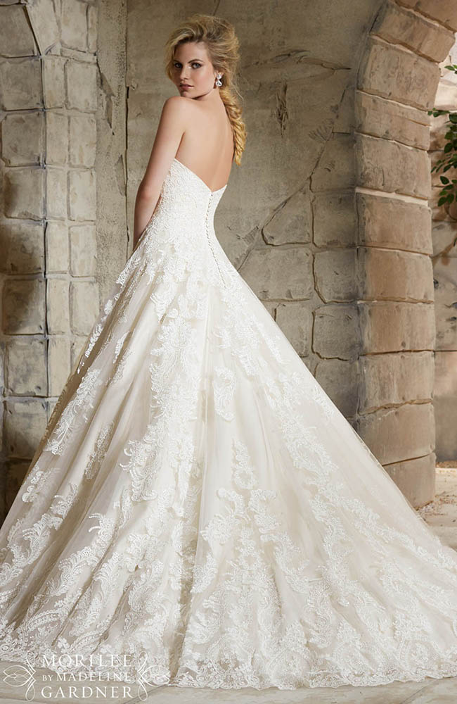 Mori lee 2787 classic romantic wedding dress on sale at 1438 for Mori lee wedding dress sale