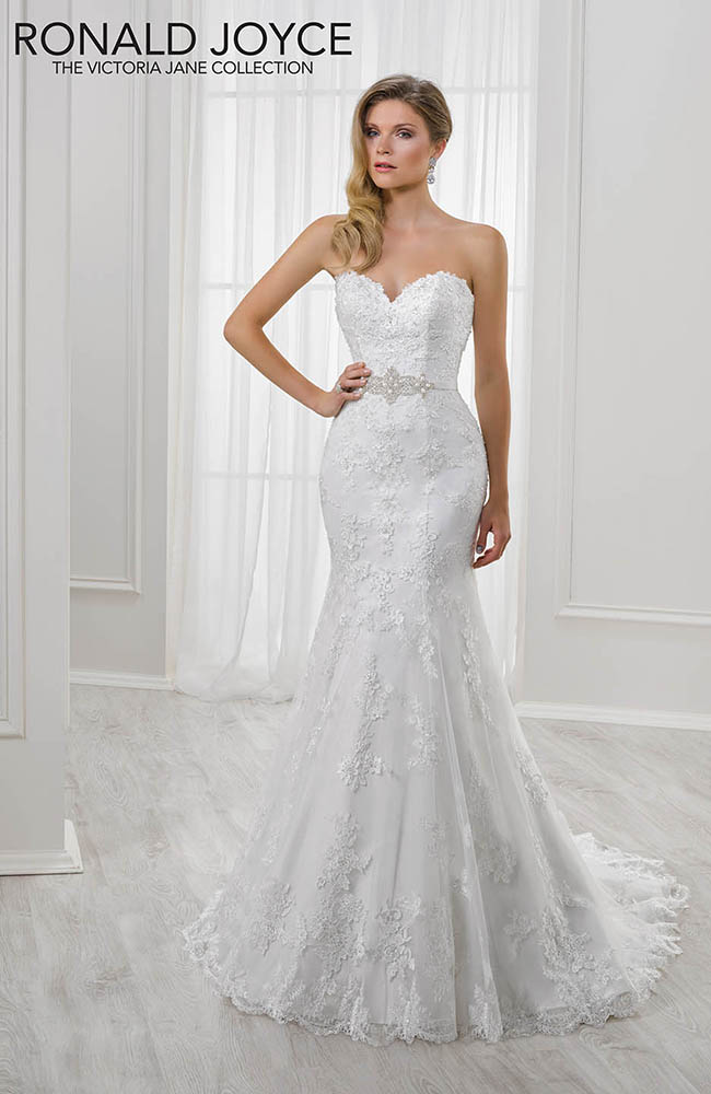 Victoria Jane Lili Satin Strapless Fishtail Wedding Dress