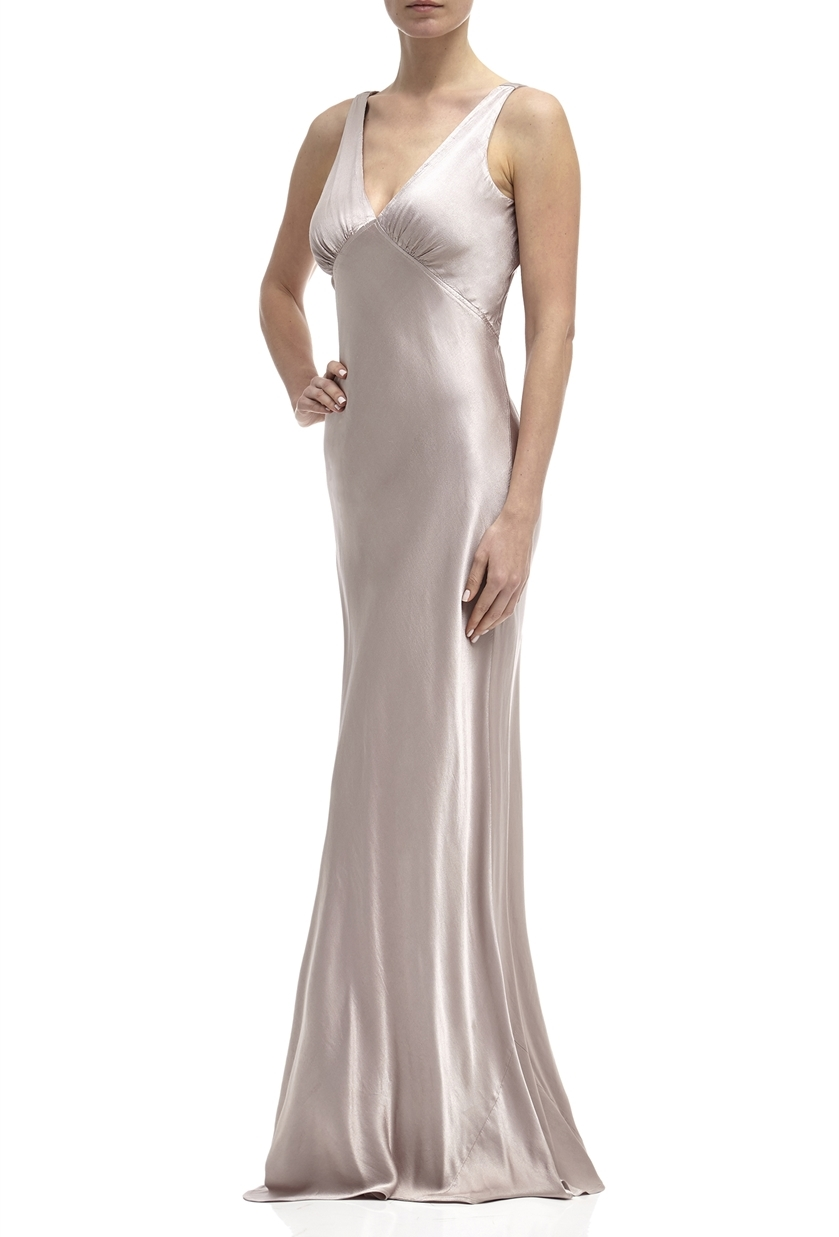 Ghost Pearl Bridesmaid Dress in Taupe - Price £245