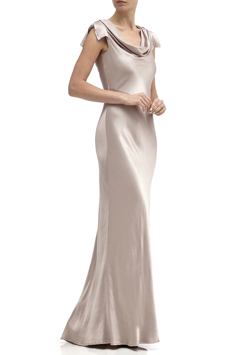 Ghost Sylvia Bridesmaid Dress in Taupe - Price £225