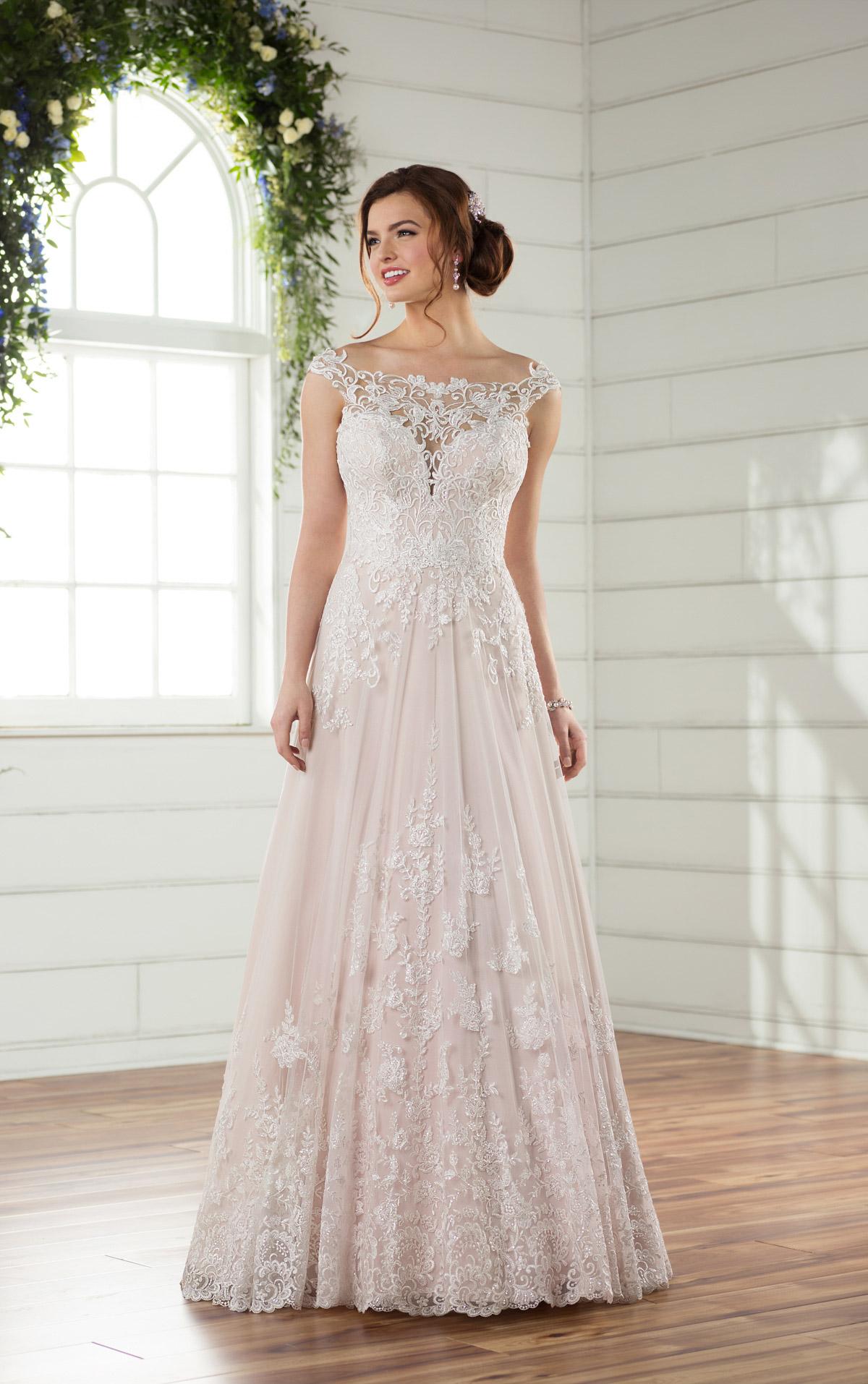 fc0fd5507f89e Satin Wedding Dress With Lace Overlay - raveitsafe