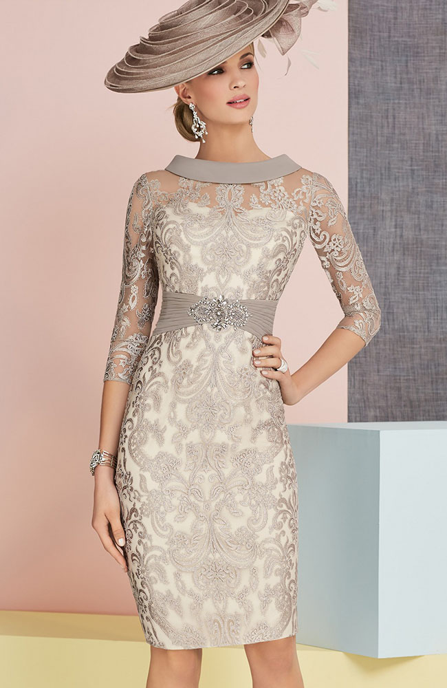 5d57bba3f7 Veni Infantino 991334 Mother of Bride Outfit in Coffee   Ivory - £742