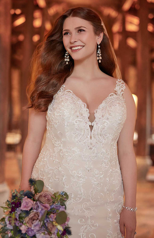 Essense D2452 V Neck Plus Size Wedding Dress Sale Price 1599