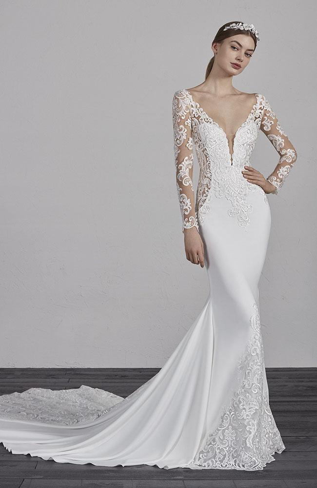 ba09f59151c Pronovias Enelsa Mermaid Wedding Dress - Essex Bridal Shops