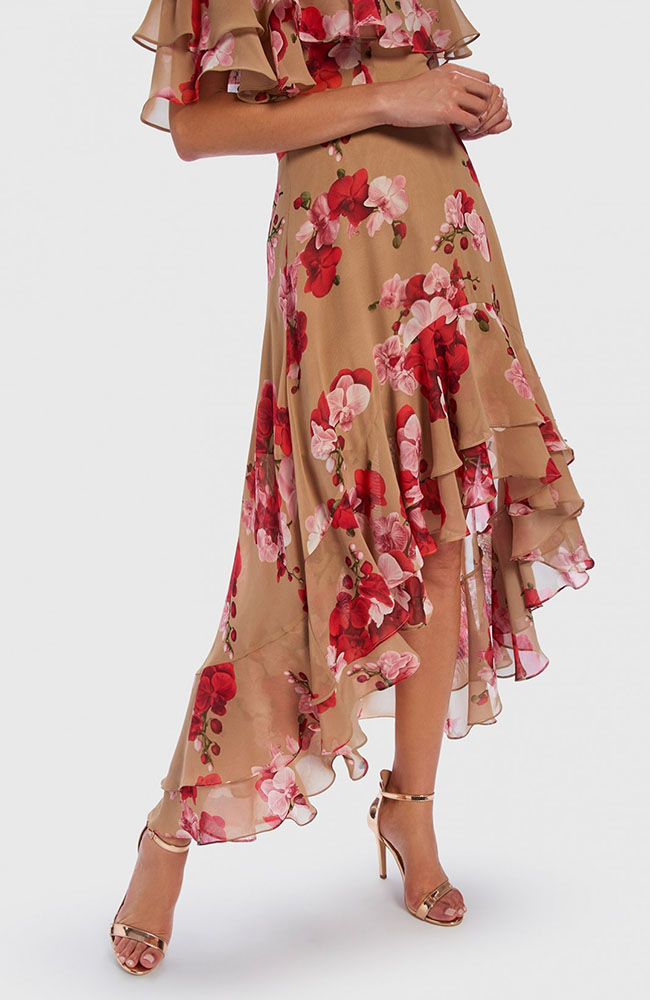 Forever Unique Nude And Red Floral 3