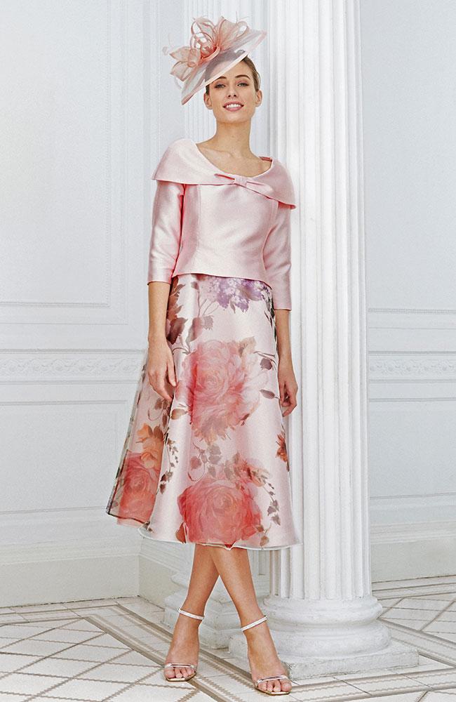 Luis Civit D807 S 581 Pink Floral Print
