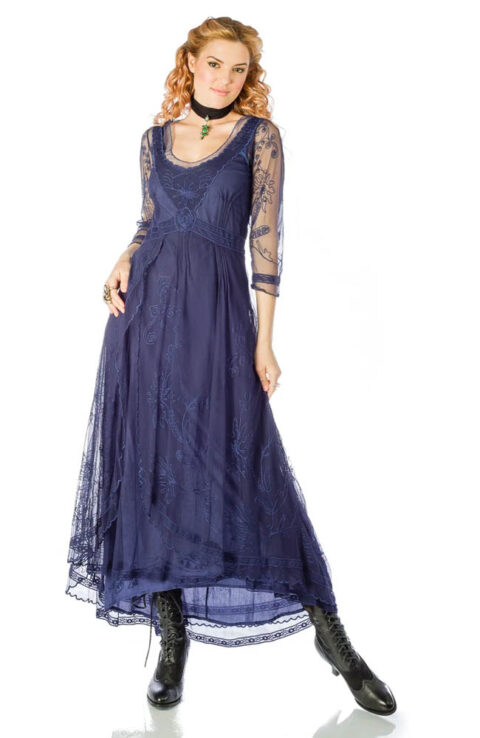 Nataya 40163 Downton Abbey Dress Royal Blue 1