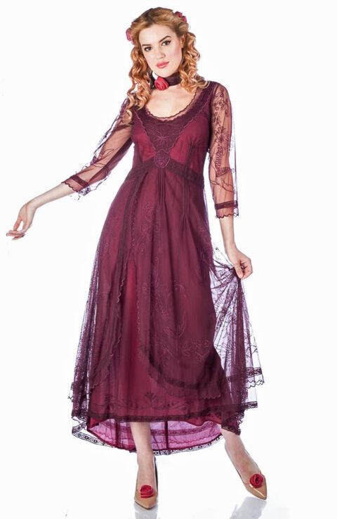 Nataya 40163 Downton Abbey Ruby Tea Party Gown 1